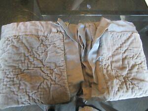 2 Pottery Barn Washed Velvet Euro shams flagstone gray photo shoot sample