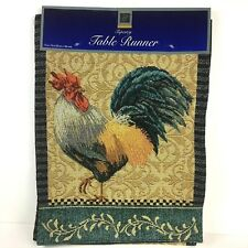 Rooster Table Runner Tapestry Design Country Table Farmhouse Kitchen Decor New