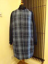 Designer Trussardi femme laine carreaux bleu veste taille L neuf avec étiquette