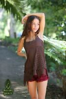 Pixie Top Fairy Festival Goa Gypsy Boho Hippie Faerie Cosplay Patchwork Long Top