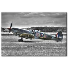 Supermarine Spitfire Raf Wwii ~ Canvas Print Wall Art Picture Photo ~ 5 Sizes
