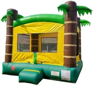 Inflatable Bounce House - 13' Foot x 12' Foot Bouncy Area - Crossover Tropical