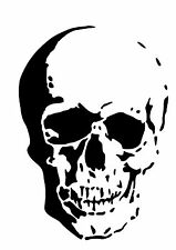 High Detail Skull Airbrush Stencil - Free UK Postage