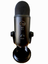 Blue Yeti Professional Multi-Pattern USB Condenser Microphone Blackout OPEN BOX