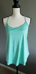 under armour green racerback athleisure athletic tank large L