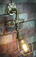 LYYT 429.563 Retro Vintage Styled Industrial Wall Light With Angled Cage - Gold