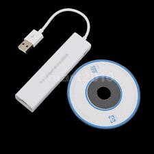 3 Port USB Multi Function Lan Adaptor Ethernet Internet RJ45 Network Cable