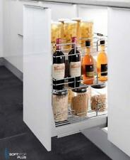 SOFT CLOSE KITCHEN PANTRY LUNETTE BASKET STORAGE ORGANISER PULL OUT CABINET 400