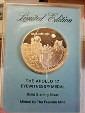 1972 APOLLO 17 STERLING SILVER EYEWITNESS COMMEMORATIVE MEDAL
