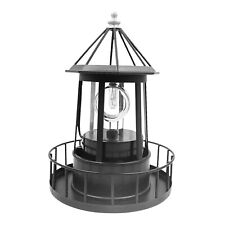 Solar Powered LED Rotating Lighthouse Light Outdoor Garden Lawn Lamp Decor