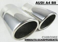 AUDI A4 B8 2007-2015 EMBOUTS CHROME POT ECHAPPEMENTS TUYAUX TUBE SILENCIEUX 70mm