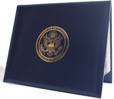 U.S. Citizenship and Naturalization certificate padded holder with cover. Gol...