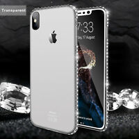 For iPhone X 8 7 6s Plus Luxury Diamond Ultra Thin Soft TPU Silicone Case Cover