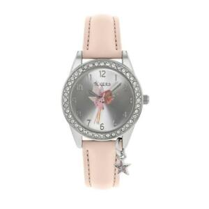 Tikkers Girl's Analog Quartz Watch with Pink Strap Fairy Design TK0189