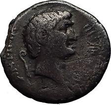 MARK ANTONY Reconciles AHENOBARBUS 41BC RARE Ancient Silver Roman Coin i60667
