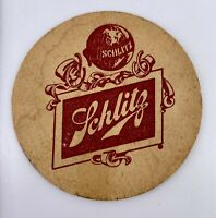 """1976 SCHLITZ """"When It's Right You Know It"""" Vintage Beer Coaster"""