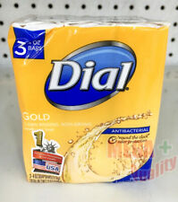 Dial Gold Rinses Clean Without Drying Soap Bars  4 oz 113g 3 Bars