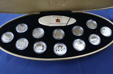 1999 Canada Millennium Coins 12 Coin Silver 25 Cents Proof Set w. Case E3245