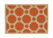 Buddy's Line Natural Jute Pet Placemat, Tangerine Background