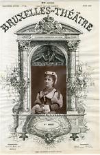 A. Delabarre, Bruxelles-Théâtre, Mme Morlet, chanteuse Vintage albumen Print