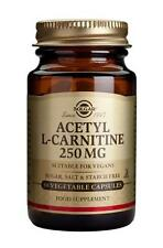 Solgar Acetil-L-Carnitina 250 mg capsule vegetali, 30