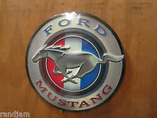 Round FORD MUSTANG Pony EMBOSSED METAL DECO  Shelby Motor COOL