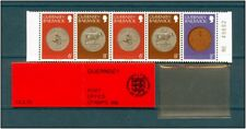 GUERNESEY  - Carnet 5 Timbres 1979   Neuf MNH ** Monnaies