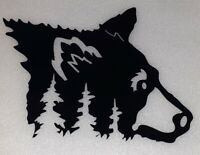 home decor Gift Bear Metal Art Black Bear Door Wall Hang New Modern Hunting