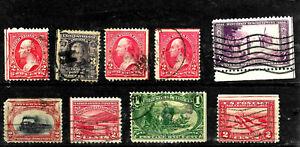 Margin Guidelines & Arrows Collection #285 294 302 etc 1895-1945 US 3200
