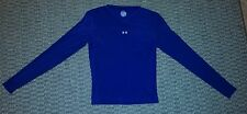 Under Armour womens navy blue fitted v neck long sleeve shirt size medium