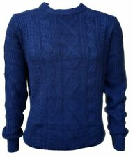 "Men`s New NEXT Wool Blend Cable Knit Jumper Size XL 44"" Chest Blue"