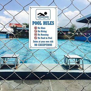 Schwimmbad Warnschild Pool Schilder, Schwimmbad Regelschild Hausdeko 30x20cm