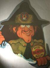 Rare Vintage Iron On Heat Transfer Insta 1976 Adult Humor Beaver Inspector Funny