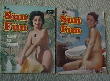Nudists Magazines Sun Fun Number 1 and Sun Fun Number 4