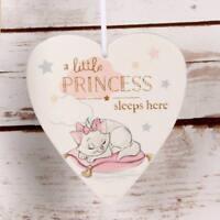 Disney Heart Plaque Little Princess Sleeps Here Baby Girl Gift DI401