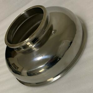 """SANITARY BOWL REDUCER 12"""" - 6"""" STAINLESS STEEL TRI CLAMP HIGH PRESSURE FITTING"""