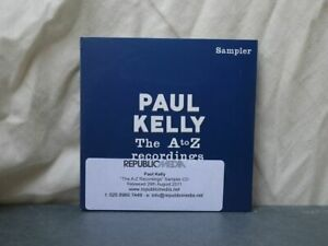 Paul Kelly:  The A To Z Recordings (Sampler)  PROMO  CD  Mint Unplayed