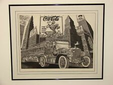 Original Bruce McCombs Etching ''The Pause that Refreshes'' Signed and Authentic