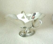 Antique Solid Silver   SAUCE BOAT  Hallmarked:-London 1896
