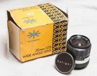 Vintage Soligor 35mm f/2.8 Canon Mount Wide Angle Lens w/ Box tthc
