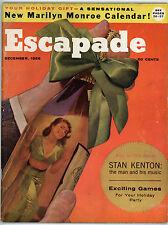 RARE December 1956 ESCAPADE Magazine MARILYN MONROE CENTERFOLD Stan Kenton LOOK