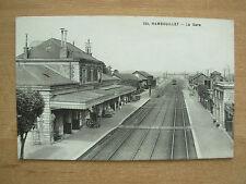 VINTAGE POSTCARD RAMBOUILLET LA GARE - RAILWAY STATION FRANCE