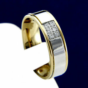 New Men's Stainless Steel CZ Engagement Wedding Anniversary Bridal Band Ring