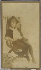 Actresses, Lady Sitting in Ornate Chair, N150, 1880s, Honest Long Cut #18