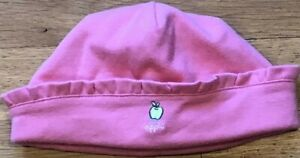 NEW Vintage 2001 GYMBOREE Reversible APPLE KITTY Pink HAT Size 6-9-12 mo NWT