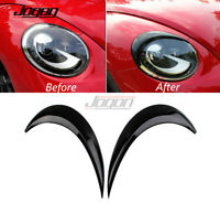 Black Headlight Eyebrow Eyelids Eyelid For VW Volkswagen Beetle A5 2012- 2019