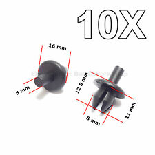 10X Expanding Fivets, Fastening Clips for Opel, Vauxhall, Saab, Fiat