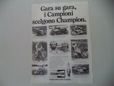 advertising Pubblicità 1982 CHAMPION ANGEL NIETO/ANDRE' MALHERBE/RICARDO TORMO
