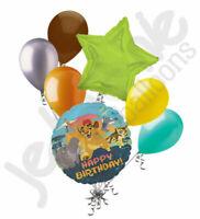 7 pc Disney Lion Guard Happy Birthday Balloon Bouquet Party Decoration Lion King