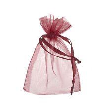 GRANDE con coulisse in Organza Sacchetti regalo rosso scuro 15x11cm Confezione da 6 (f16)